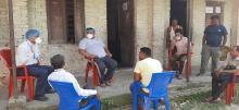 नगर प्रमुख श्री नितेन्द्र प्रसाद साह ज्यु दवारा क्वारनटाईन केन्द्रको अनुगमन गरियो तथा उक्त म्यानेजमेन्ट कमिटी संग छलफल गर्दै।