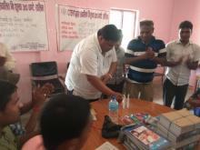 नगर प्रमुख श्री नितेन्द्र प्रसाद साह ज्यु कार्यक्रम को उद्घाटन गर्दै।